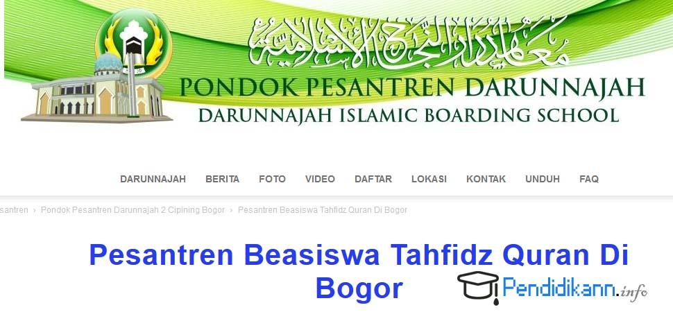 Beasiswa Pesantren Tahfidz Quran Darunnajah Bogor