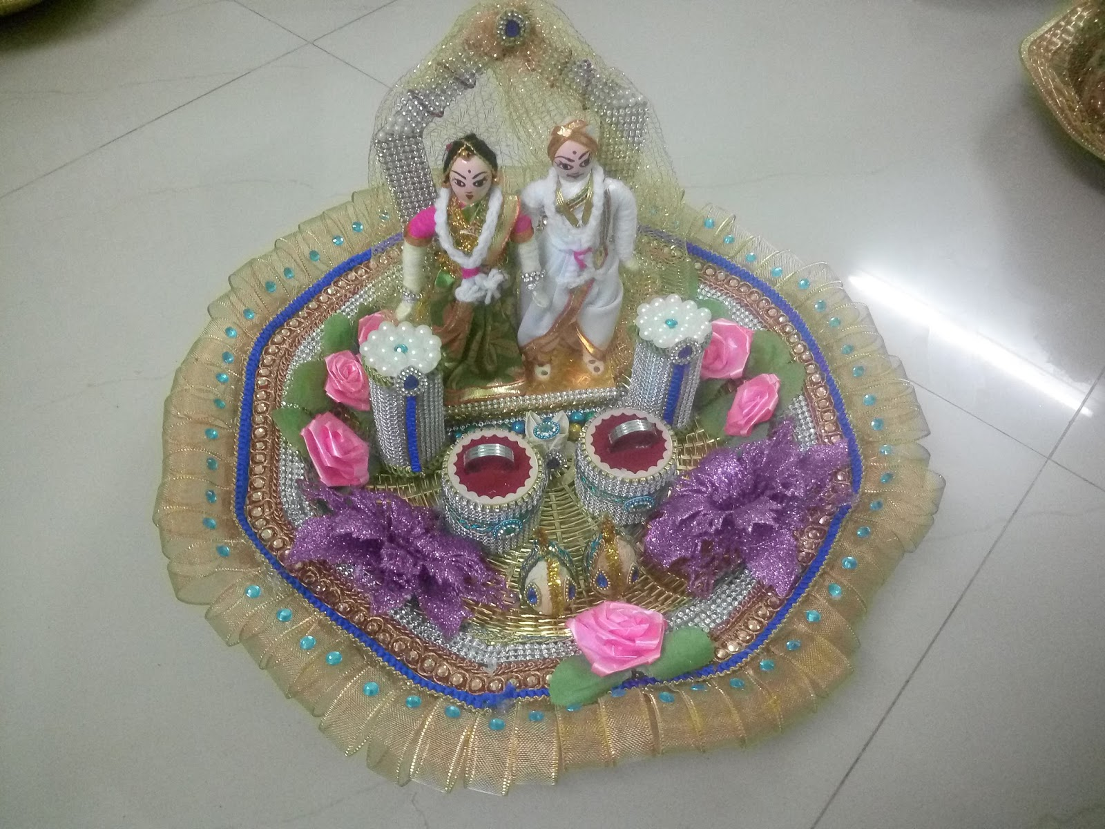 May 2017 aarthi plates decoration for wedding decorative for Aarthi plates decoration