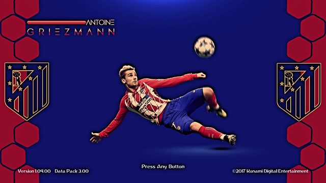 PES 2018 Antone Grizeman New Start Screen 2018 By affan7