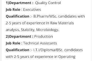 Walk in interview@ Aurobindo Pharma for multiple positions on 6 January