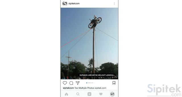 Cara Upload Banyak Foto Sekaligus di Instagram dalam Satu Postingan