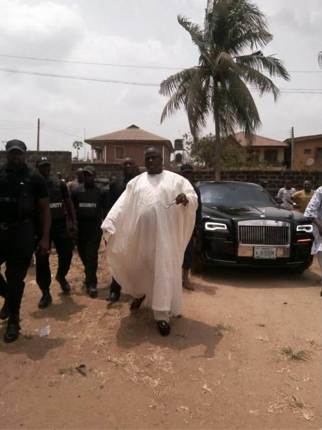 Caption This Photo Of Senator Buruji Kashamu And His Security Details