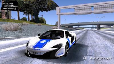 GTA San Andreas McLaren 650S Spyder Algeria Police v1.0 Mod Free Download