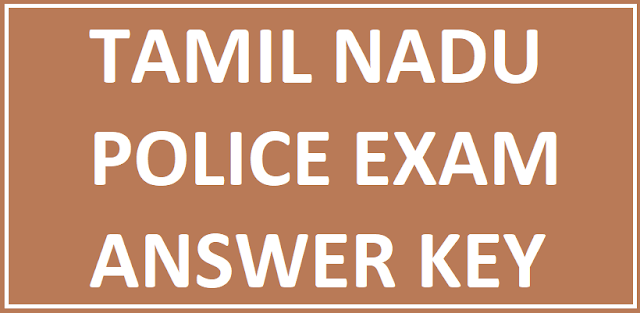 Tamil Nadu TN Police Answer Key