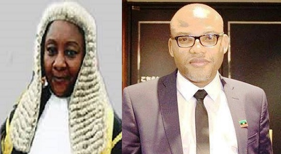 Justice Binta Nyako Quash 6 Charges Against Nnamdi Kanu; Declares IPOB Legal