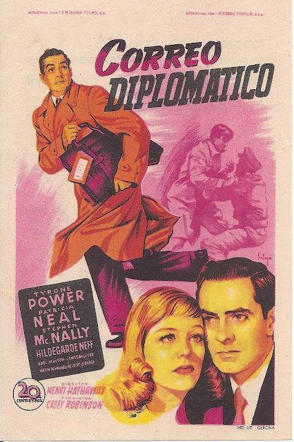 Correo Diplomático - Programa de cine -Tyrone Power - Patricia Neal