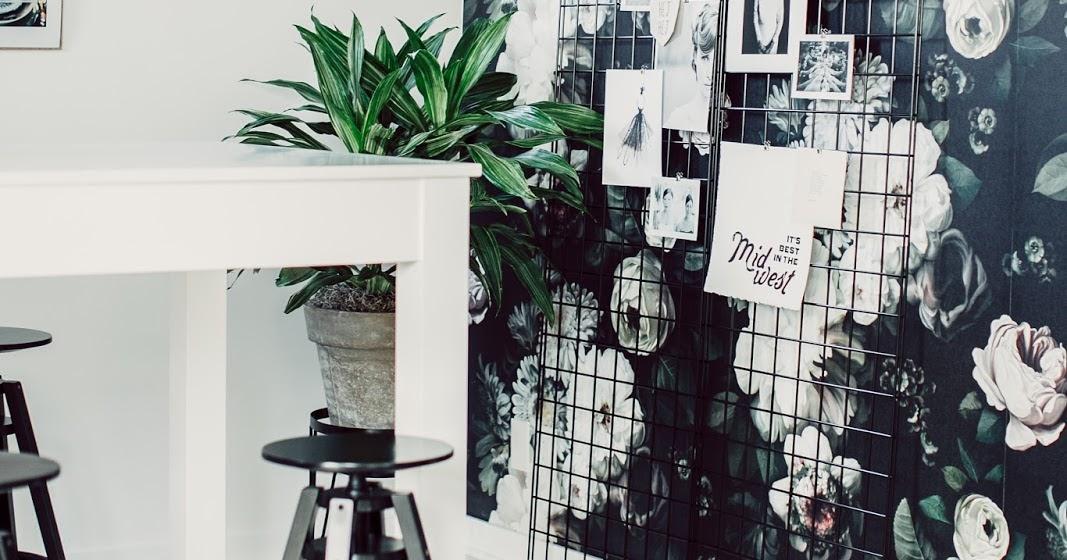 atelier rue verte le blog usa un bureau au papier peint floral. Black Bedroom Furniture Sets. Home Design Ideas