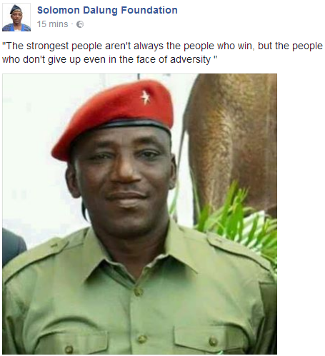 Interesting quote from Sports Minister, Solomon Dalung