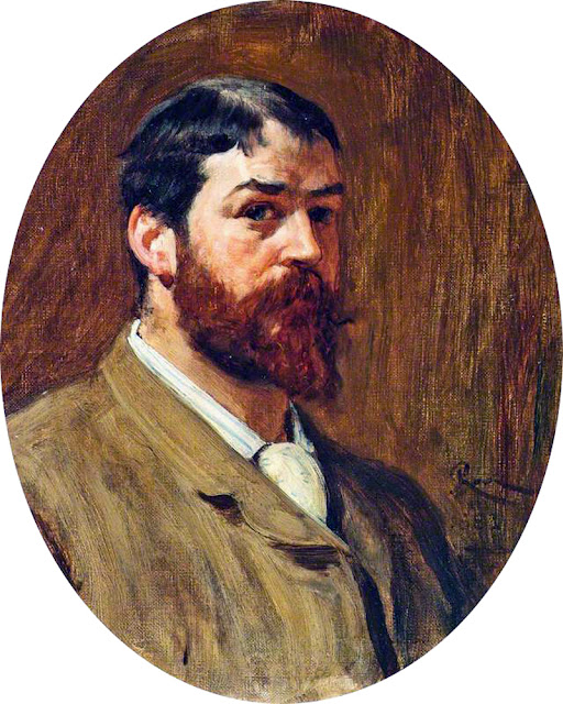 Robert Walker Macbeth, Self Portrait, Portraits of Painters, Robert Walker, Fine arts, Portraits of painters blog, Paintings of Robert Walker , Painter Robert Walker