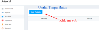 Klik add website