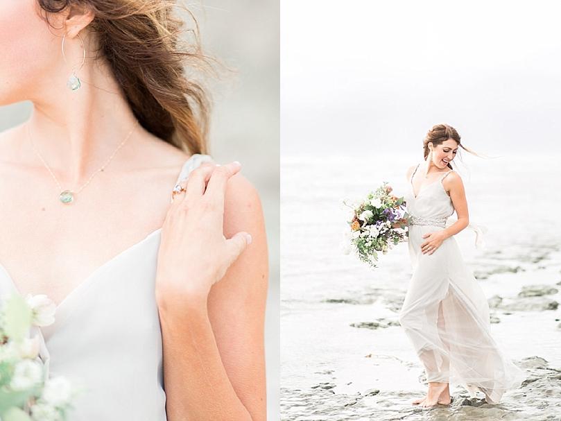A Salt Amp Stone Styled Bridal Shoot On The Coast Of San