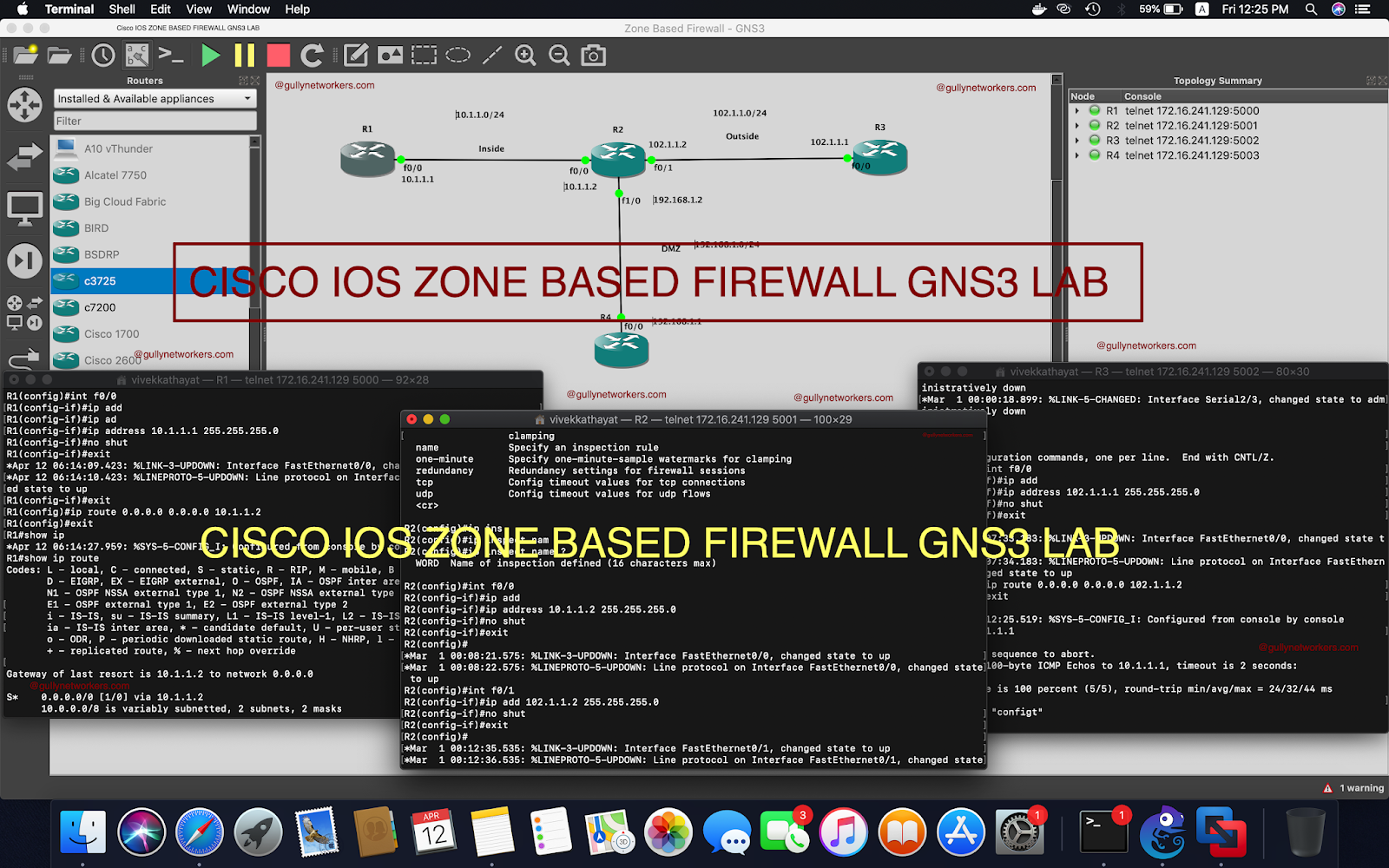 gullynetworkers: CISCO IOS ZONE BASED FIREWALL GNS3 LAB