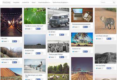 grid pin blogger templates 2014,gallery template,Sidebar label widget,Responsive design,professional