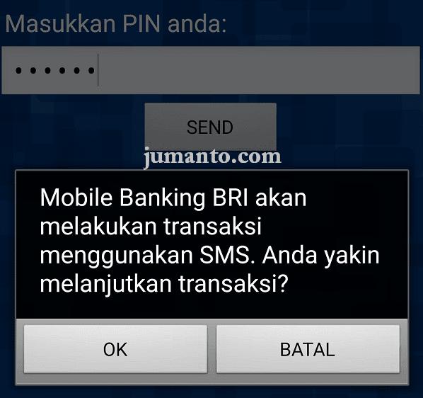 cek saldo bri lewat mobile banking