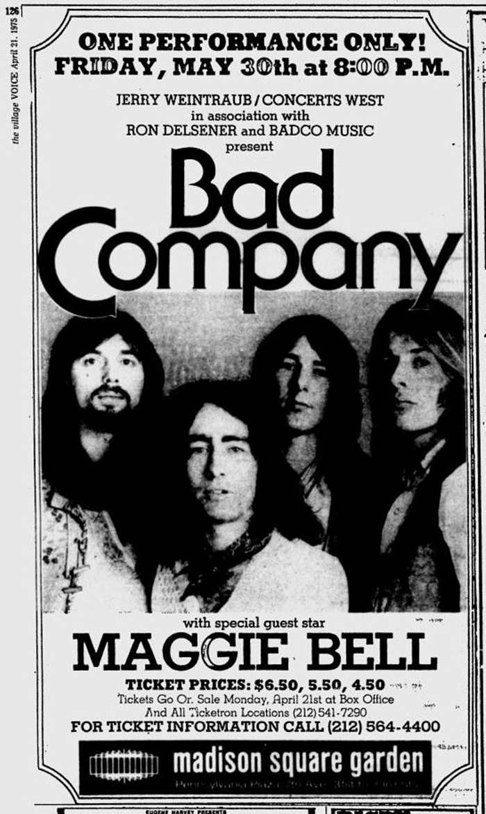 Vintage Bad Company Rock Roll Newspaper Press History 02 18 16