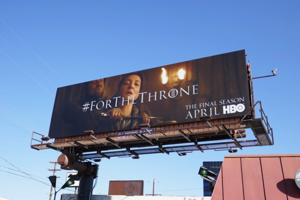 Games of Thrones final season 8 teaser billboard