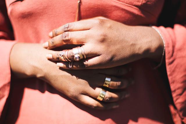 h & m gold midi rings