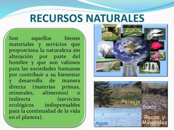que son los recursos naturales