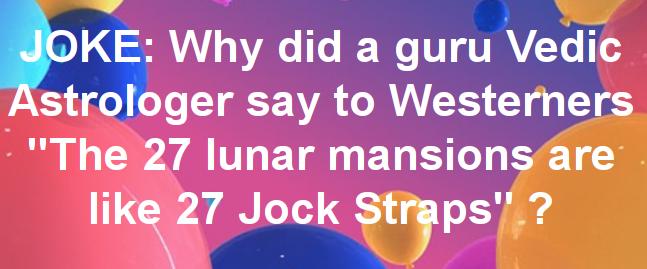 27 JockStrap Answer Punchline