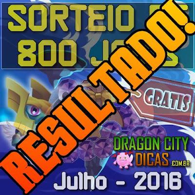 Resultado do Super Sorteio de 800 Joias - Julho 2016