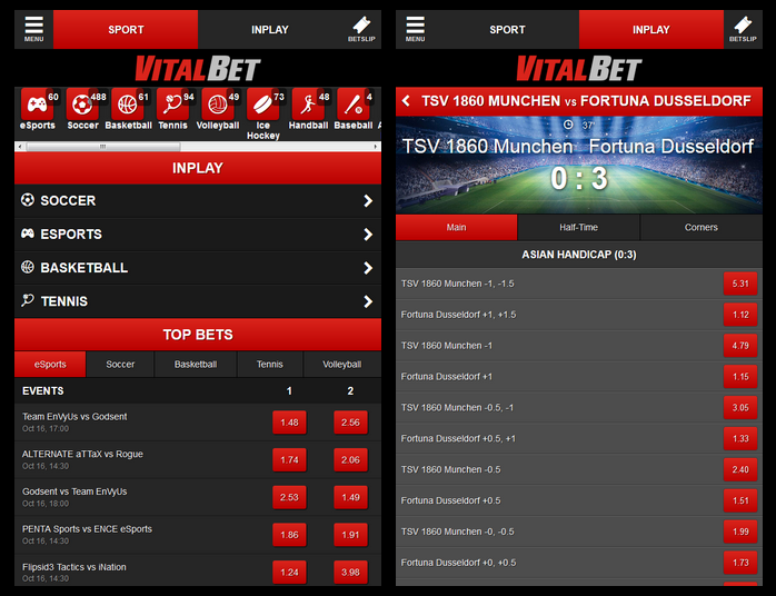 Vitalbet Screen