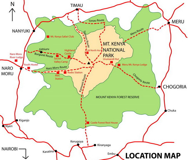 Xvlor.com Mount Kenya National Park is reserve to protect 5199 meters stratovolcano