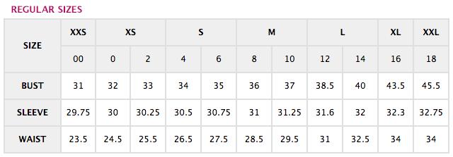 Ann Taylor Size Charts