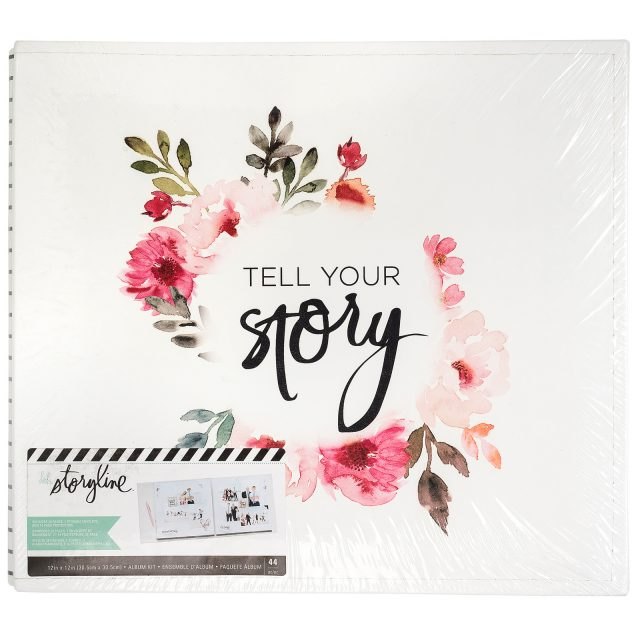Heidi Swapp Storyline Floral Tell Your Story 12x12 album