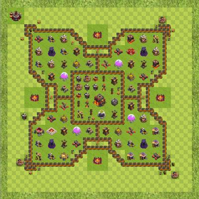 War Base Town Hall Level 10 By Mark Anthony Navarro (Makoy TH 10 Layout)