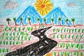 Lukisan Pemandangan Alam Karya Anak SD; Sarana mengembangkan daya kreasi anak