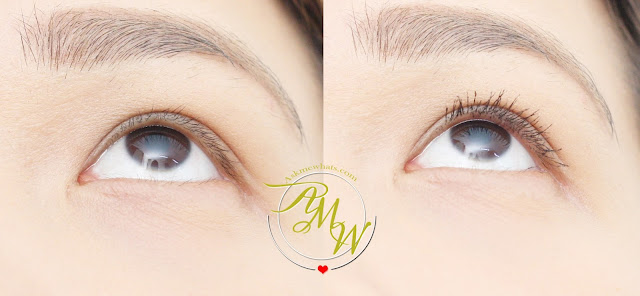 Before and After photo of Kate Tokyo Black Feather Lash