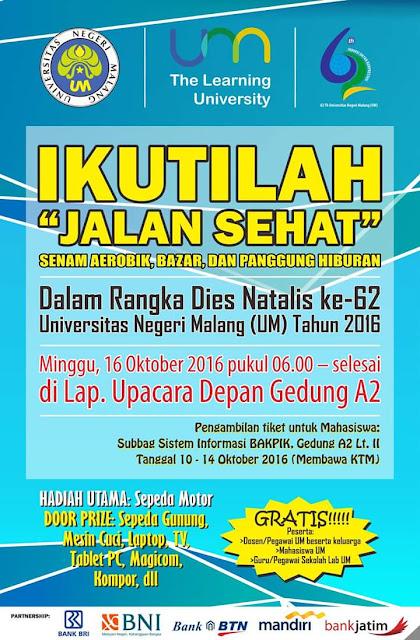 Jalan Sehat di Malang Dies Natalis Universitas Negeri Malang (UM)