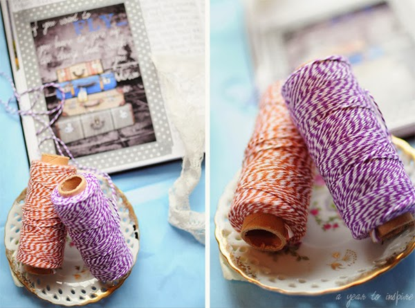 Bakers twine and journalling with A Year to Inspire