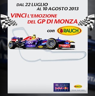 Logo Vinci il GP di Monza con Rauch Italia