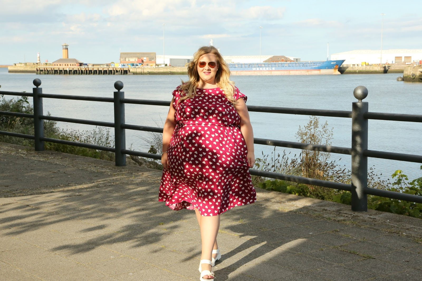 Scarlett and Jo Lollidot Heart Print Dress Image Guess Bag Michael Kors Sunglasses Plus Size