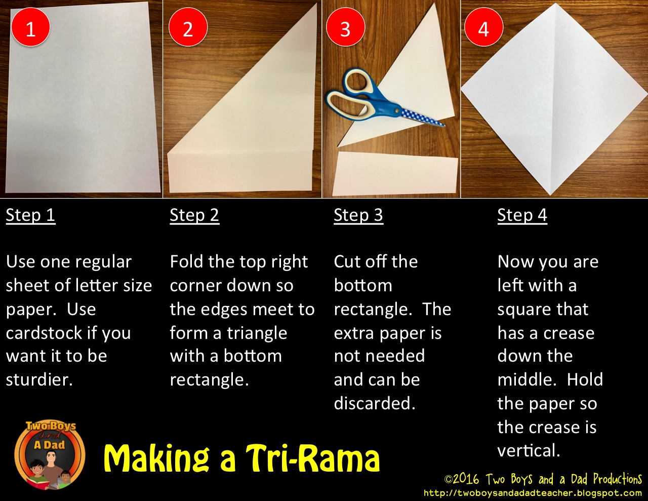 steps for making a tri-rama