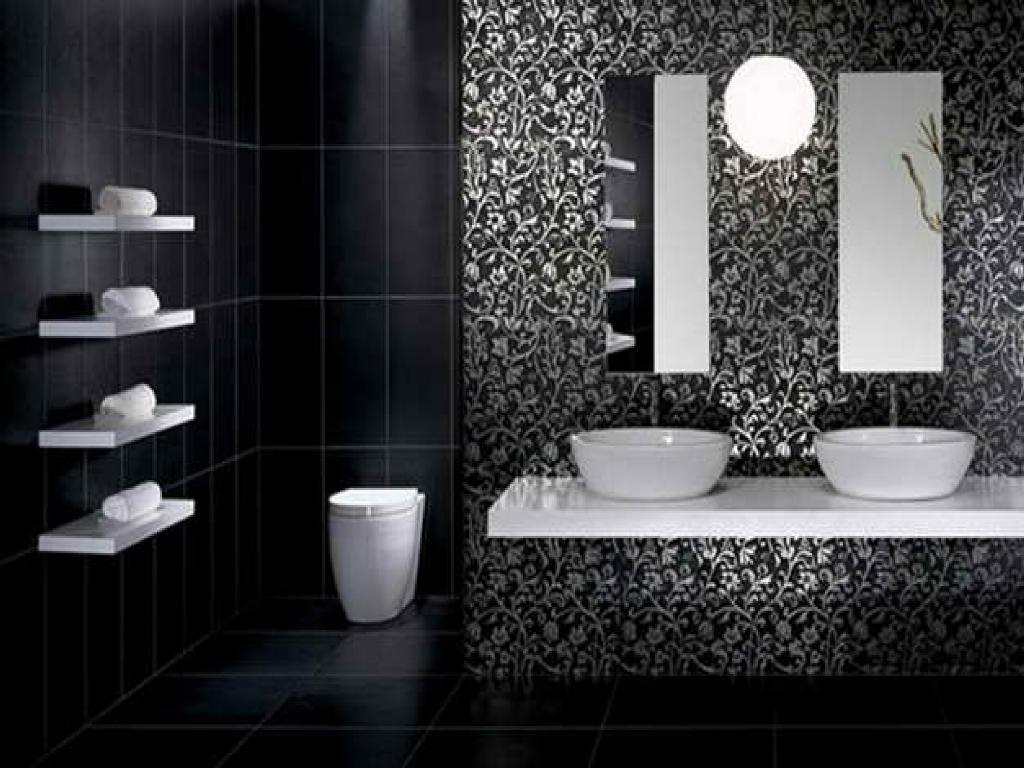Minimalist modern black bathroom design ideas art home for Modern black bathroom