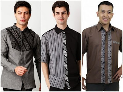 Model baju batik terbaru pria