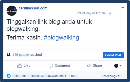 Senarai Blog untuk Blogwalking