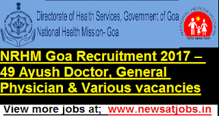 NRHM-Goa-49-Ayush-Doctor-Recruitment-2017
