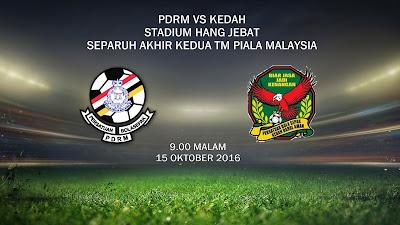 PDRM Vs Kedah 15 Okt 2016