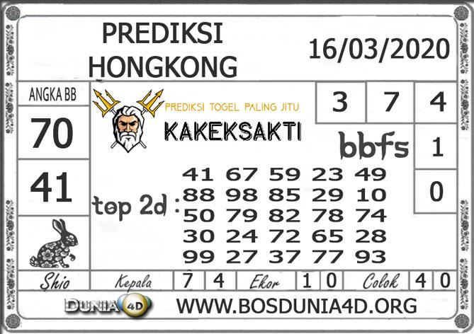 Prediksi Togel HONGKONG DUNIA4D 16 MARET 2020