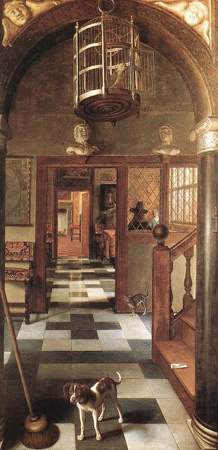 Samuel van Hoogstraten - Vista de un corredor - 1662