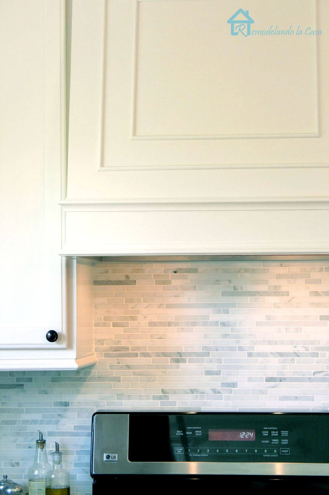 how to install a marble backsplash