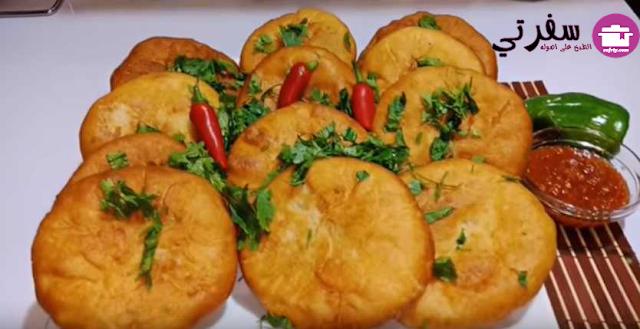 الفطاير المقلية بالفراخ والجبنة فاطمه ابو حاتي
