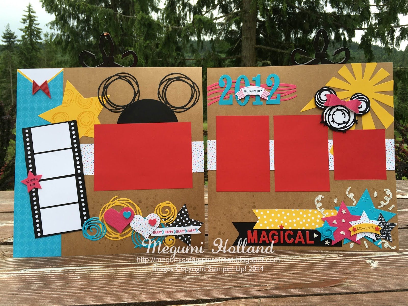 How to scrapbook disney - I Am Super Excited To Share These Adorable Scrapbook Pages We Made At My Scrapbooking Club This Month Featuring The Swirly Bird Stamp Set And The