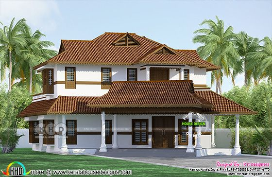 Kerala traditional 4 bedroom house