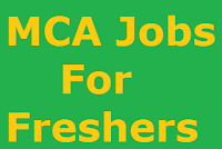 MCA Jobs For Freshers