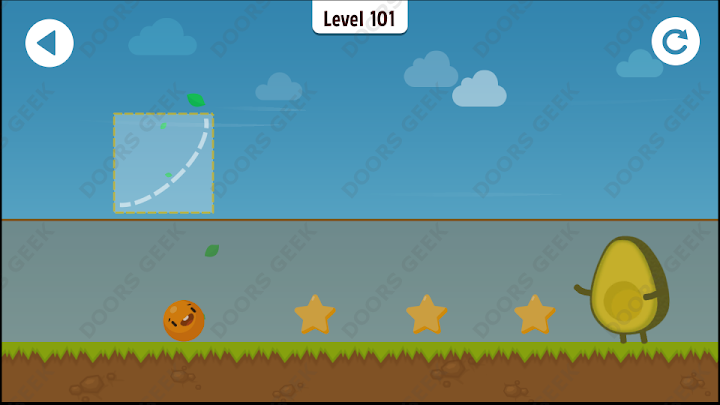 Where's My Avocado? Level 101 Solution, Cheats, Walkthrough, 3 Stars for Android, iPhone, iPad and iPod