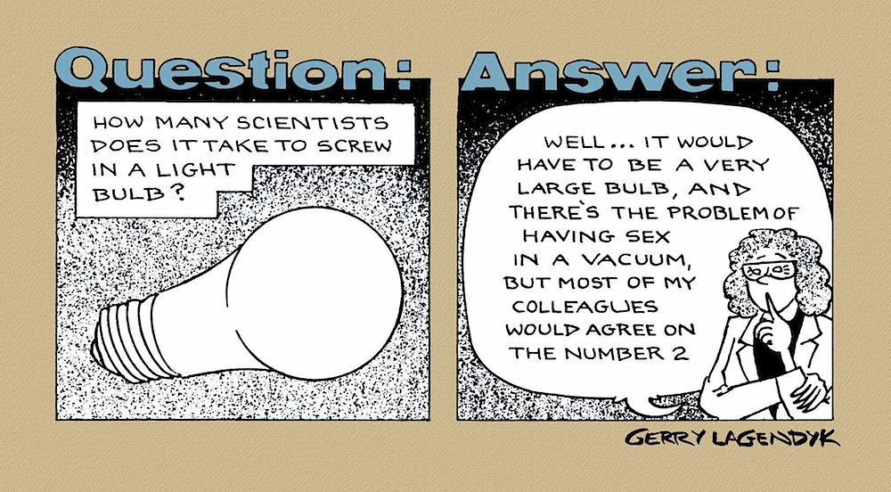 science cartoon by Lagendyk